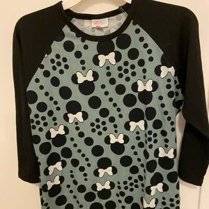 Top minnie mouse gray and black